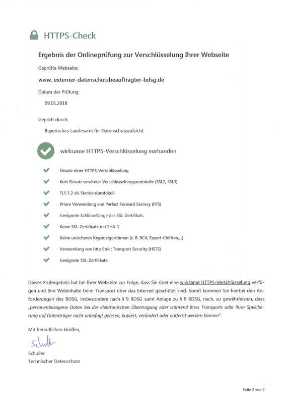 Diese Webseite ist datenschutzkonform (bezogen auf HTTPS ...